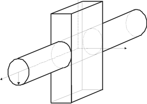 Structure of cylindrical–rectangular waveguide junction