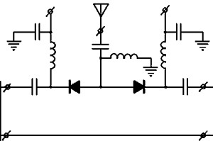 Typical circuit of SPDT switches for connecting antenna to the transceiver module