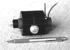 Photo of low voltage, miniature 95 GHz, 1 kW magnetron