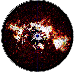 View of radar PPI in the presence of clutter