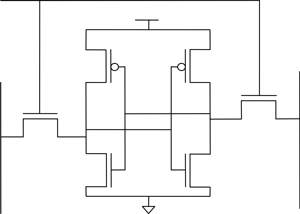 Structure of conventional 6T SRAM