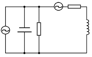 Diagram of parametric time varying circuit of general form