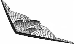 Model of B-2 bomber