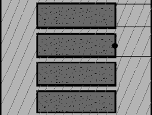Rectangular waveguide with dielectric-filled dips on a broad wall