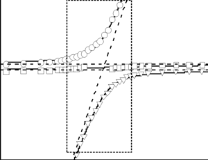 Comparison of experimental and theoretical frequency-field relationships of hybrid oscillations