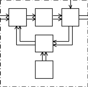Functional block diagram of the processing system with coherent accumulation of rejection residues