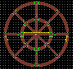 Geometry of the antenna design with PIN diodes