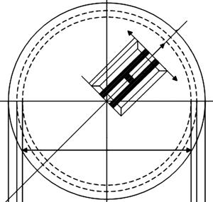 Diaphragm sensitive element with beam resonators