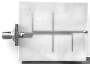 Photograph of prototype of impedance transformer