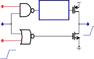Conventional mixed-voltage tri-state output buffer