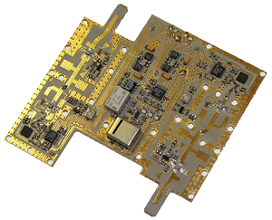 Photo of transceiver's heterodynes unit for the 12 GHz frequency range