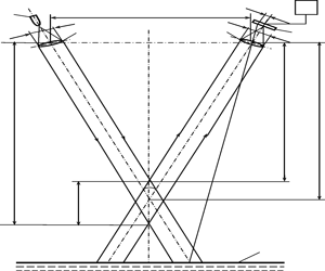 General structure and optics-geometrical diagram of optical radar device