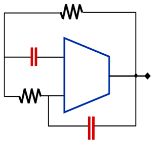 Proposed minimum component sinusoidal oscillator circuit based on OTRA