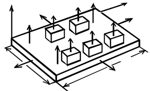 Model of thermal processes in structural-and-design module
