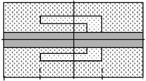 Strip resonator with a heterogeneity
