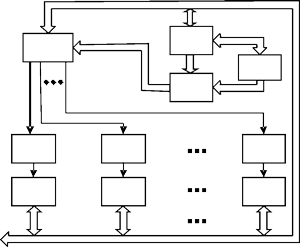 Structural chart of distributed radio receiving system