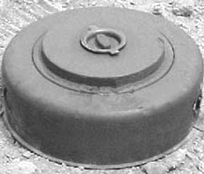 Anti-personnel landmine DM-11, which is used in the paper during modeling of radar detection and identification of mines