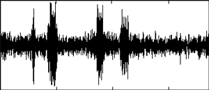 Mixture of difference frequency signal and fluctuation noise