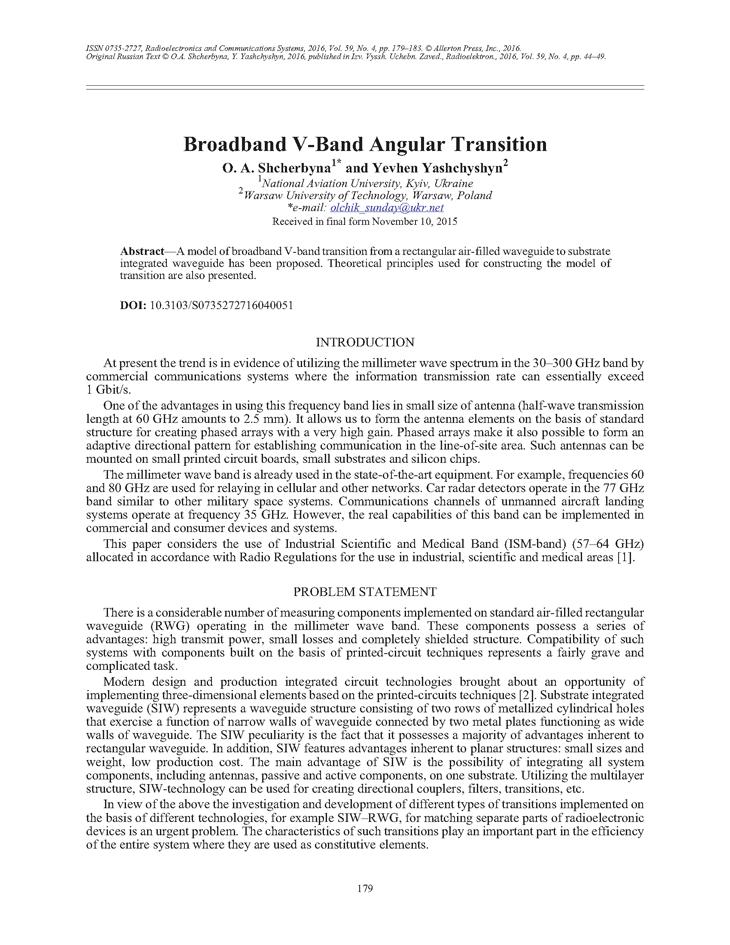 Shcherbyna, O.A. Broadband V-band angular transition (2016).  doi: 10.3103/S0735272716040051.
