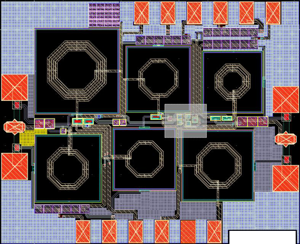 Layout of proposed UWB LNA for chip fabrication purpose